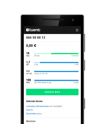 Under control with Tuenti for iPhone Android